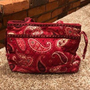 Vera Bradley Mesa Red Tote Bag, EUC